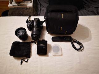 Cámara Nikon D3100 + Accesorios + Objetivos