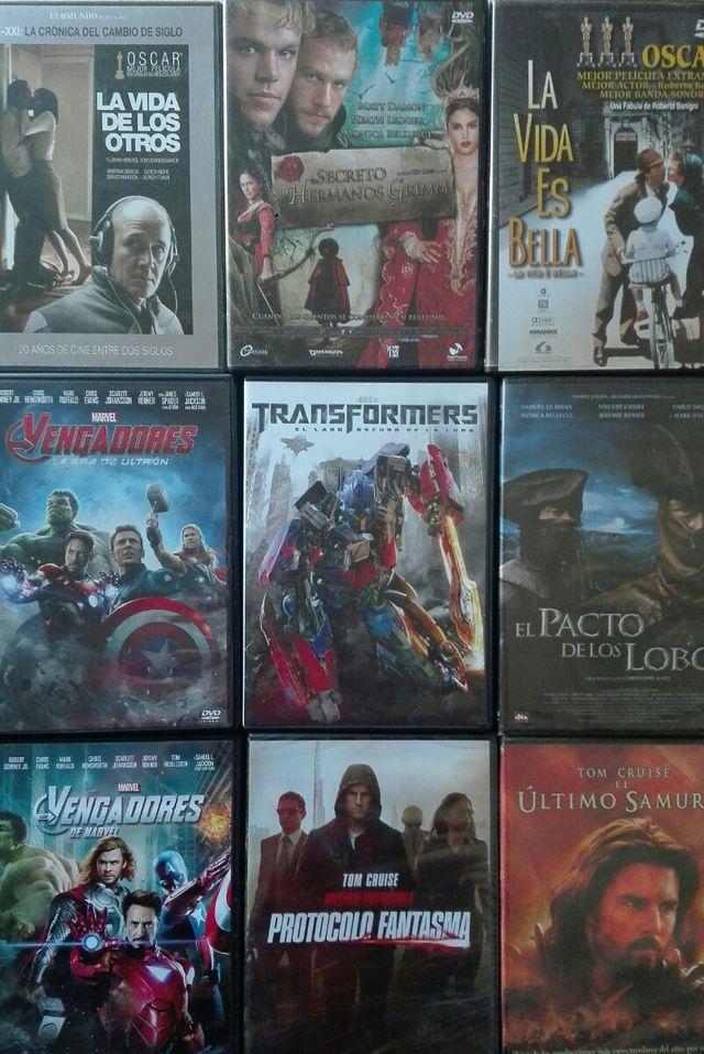 9 películas en dvd , algunas sin abrir.