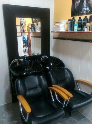 2 lavacabezas de peluquería