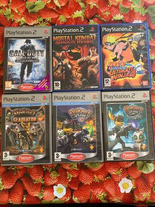 Pack juegos de play 2 originales