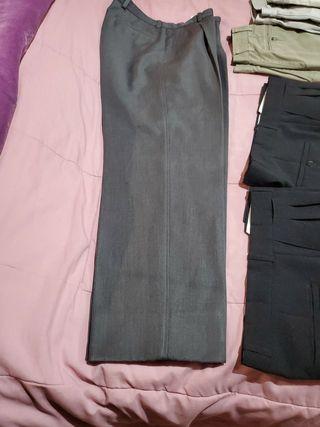 pantalon chico gris trbajo