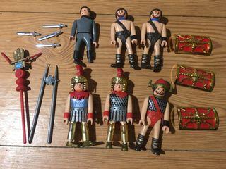 6 figuras muñecos antiguos Airgam boys