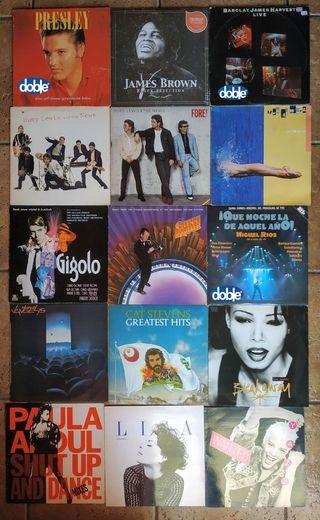 LOTE de 15 DISCOS DE VINILO LP (Sale 4€ la Unidad)