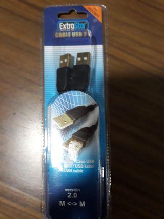 Cable USB macho - macho 1,80 cms.