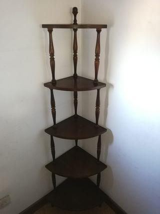 mueble estantería rinconera