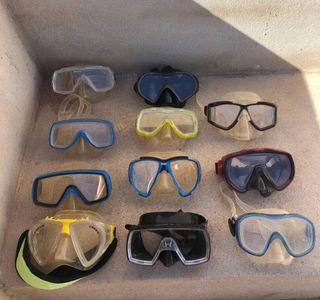 Lote de gafas de buceo