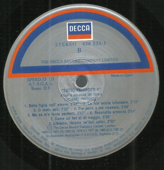 LP X 4. LUCIANO PAVAROTTI. TUTTO PAVAROTTI I + II