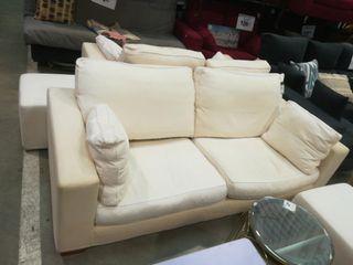 Sofa 3 plazas blanco + PUF