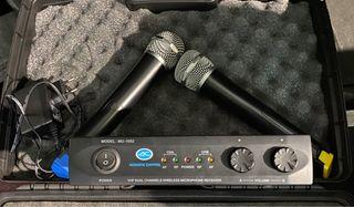 Micrófono inalambrico doble + receptor