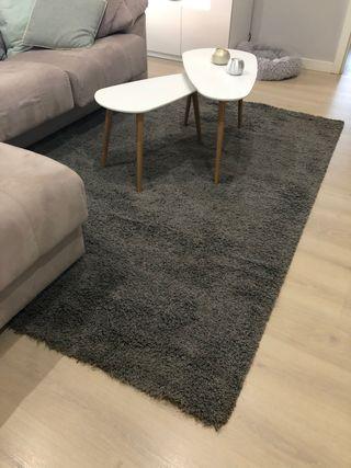 IKEA GASER Alfombra, pelo largo, de color blanquecino