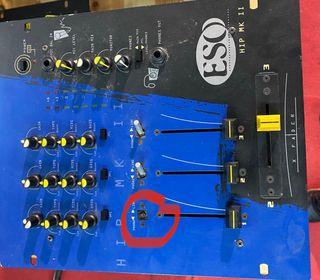 Mesa de sonido de 3 canales