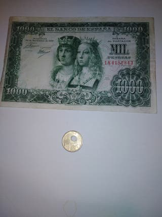 billete y moneda con defecto