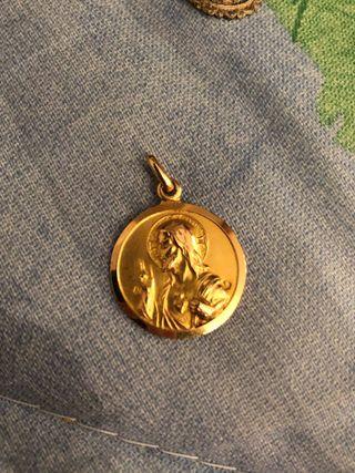 Medallas religiosas, de oro y plata