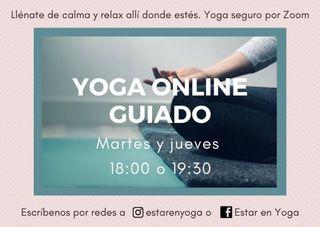 Clases de yoga Online guiado
