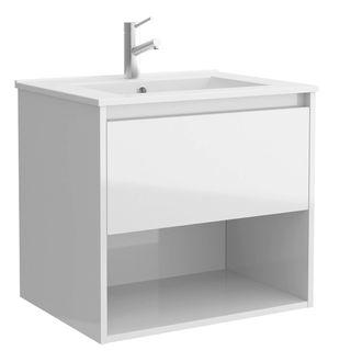Mueble baño flotante con 1 cajón y hueco + lavabo