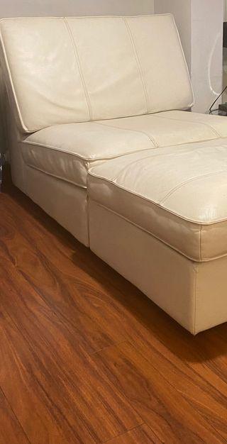 Sofá kivik Ikea piel blanco