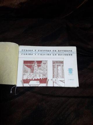 PROGRAMA FERIAS Y FIESTAS ASTORGA 1951