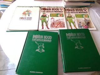 60 fascículos Robin Hood y los castillos