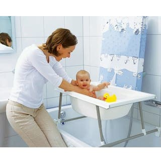 Bañera cambiador con soporte