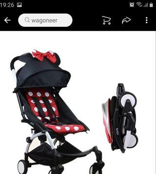 silla de paseo yoya,carrito,mickey mouse