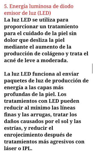 electroterapia mesoterapia fotón luz LED...