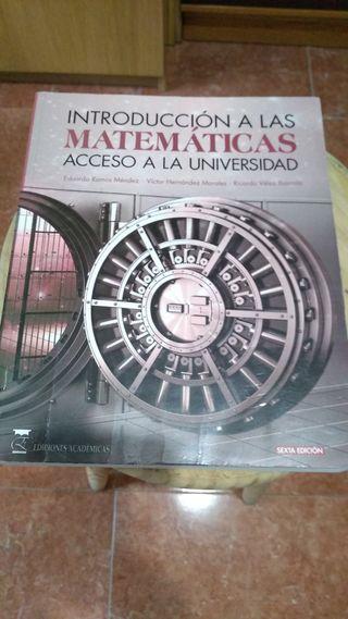 libro de introducción a las matemáticas.