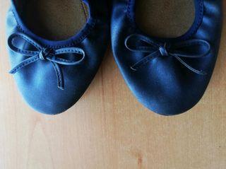Manoletinas plegables comodísimas color azulmarino