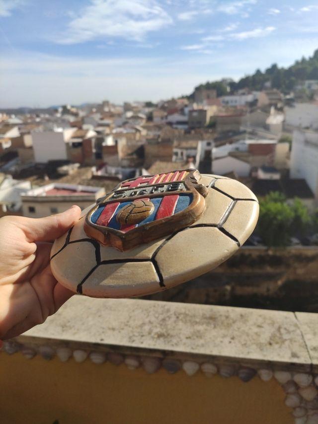 Escudo del Barça de ceramica