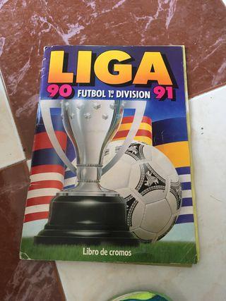 Album de cromos liga 90 91