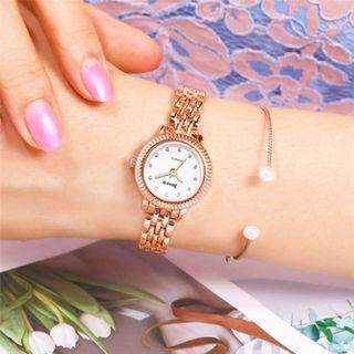 Reloj Color Oro Rosa Para Mujer. No Incluye Pulser