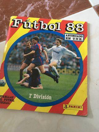 Album de cromos Panini Liga Fútbol 88