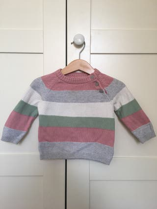 Jersey de punta niña, talla 68/4-6 meses