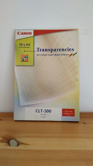 Papel transparencias