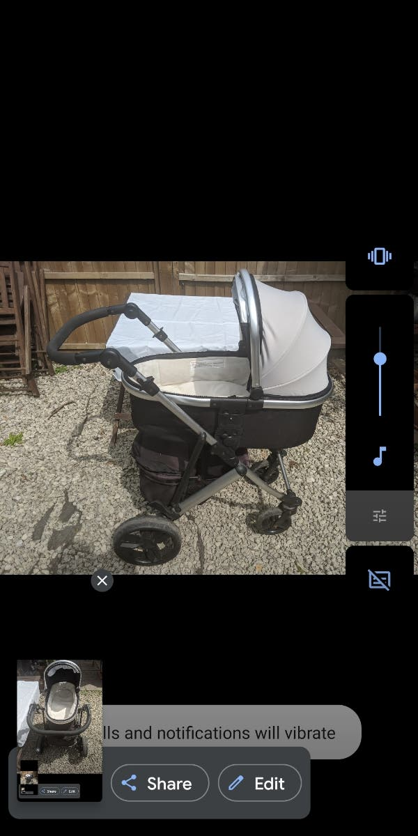 baby pushchair with accessories