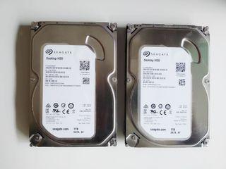 2 Discos duros Seagate 1 TB
