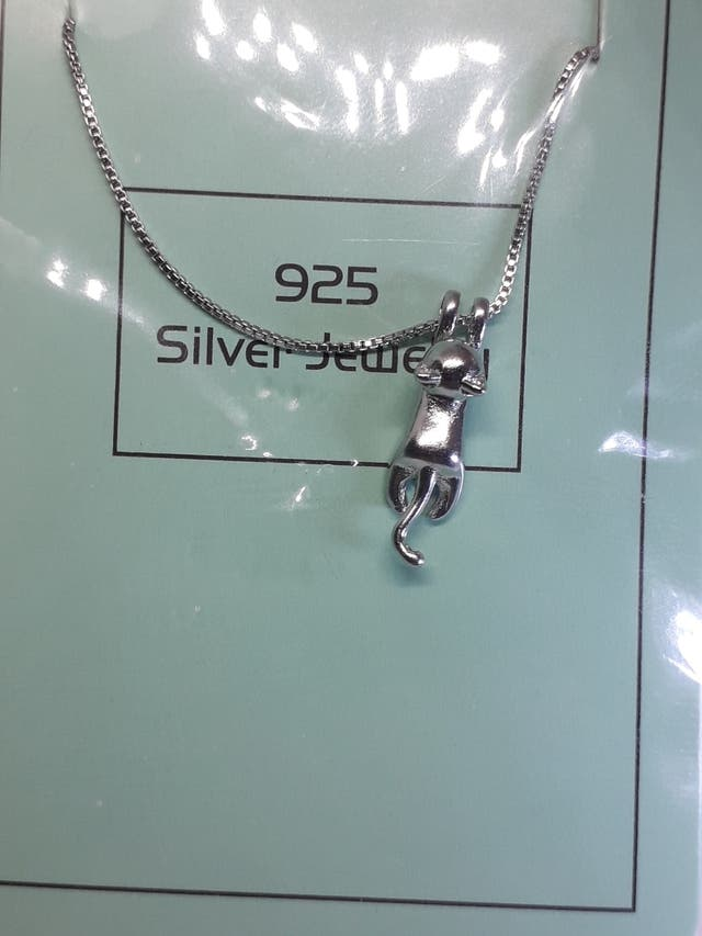 925S.S Jewelry Fashion Simple Animal Cat Chain P