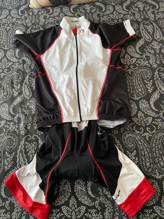Conjunto ciclismo btwin (maillot y Culote)