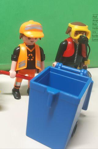 Barrendero y buzo de Playmobil + Libro de regalo