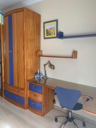 Dormitorio madera juvenil