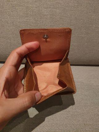 billetera VB y llavero pielnoble de cuero