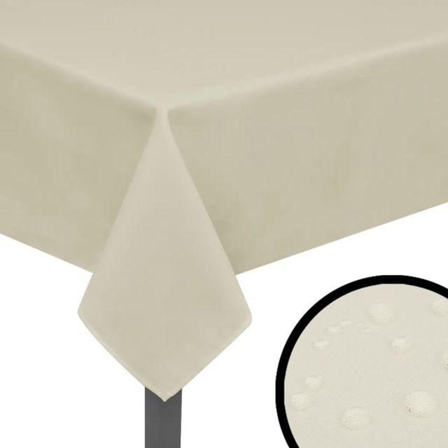 Manteles de mesa 5 unidades crema 170x130 cm