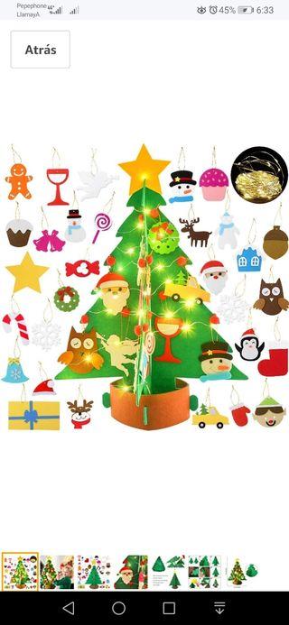 """Tela NAVIDAD £ 2 un Metro Rojo árbol De Navidad 45/"""" de ancho"""