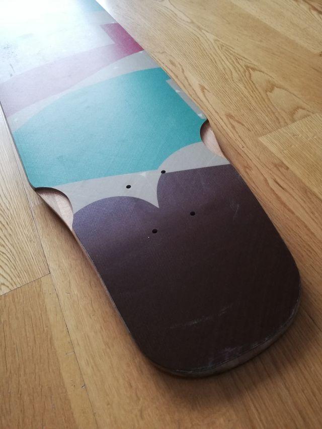 Tabla longboard Luca Ballar seminueva + ejes Bear