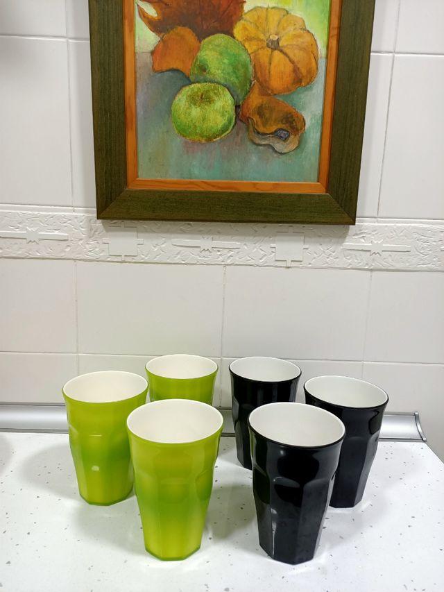 Vasos de plástico duro reutilizables 6