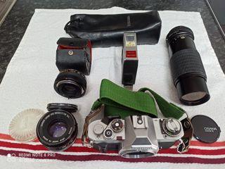 Camara Reflex CANON AV1 con zoom y más