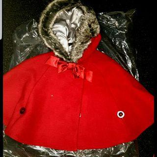 Girls red cape coat