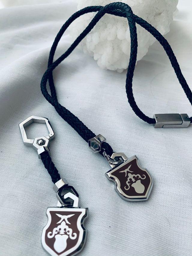 Gift set llavero y collar acero inoxiable