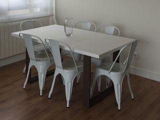 6 sillas tolix blancas