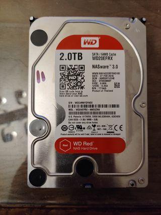 Lote de 3 discos duros de 2tb