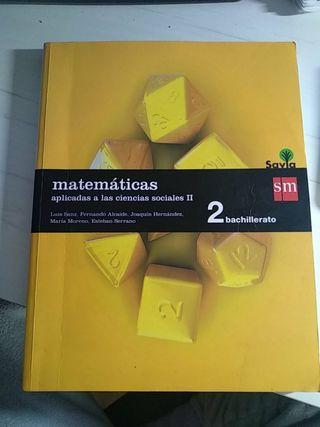 Matemáticas ciencias sociales 2°Bachillerato